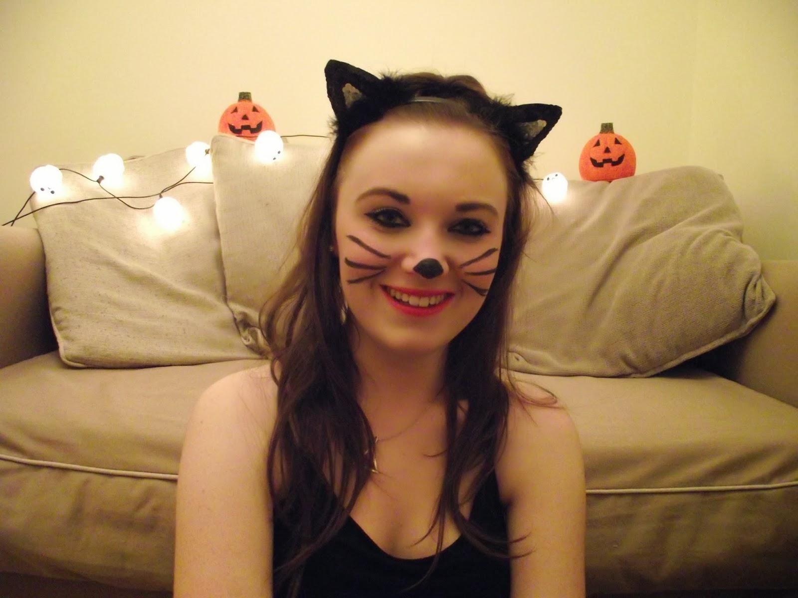 Halloween Makeup Look: Black Cat! - BekyLou