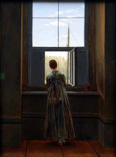 Woman at a Window, 1822, C.D. Friedrich