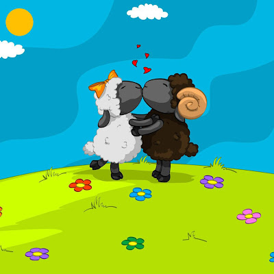 Sheep, in love download free wallpapers for Apple iPad
