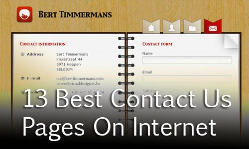 13 Best Contact Us Pages On Internet Of 2015