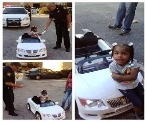 Mobil mainan ditilang polisi