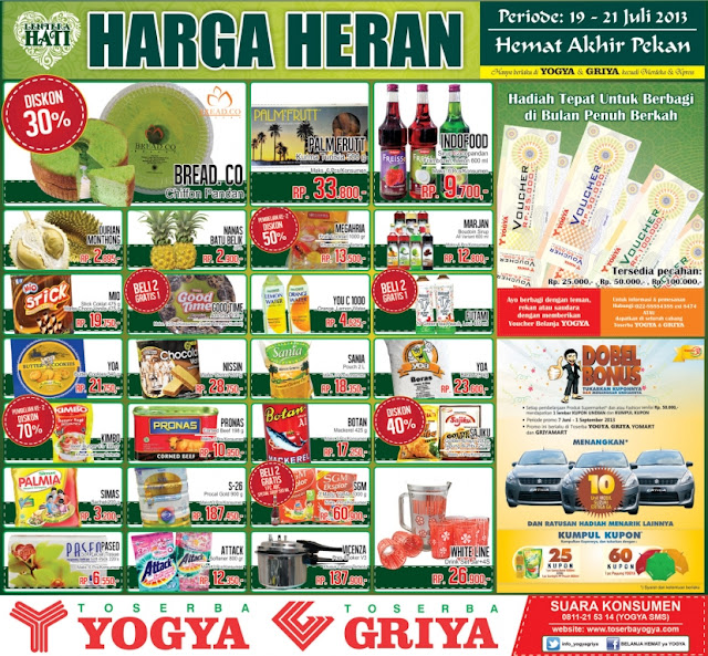 Katalog Toserba Yogya Weekend Promo Terbaru Periode 19-21 Juli 2013