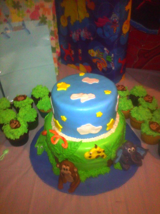 just in cakes and more jungle themed baby shower