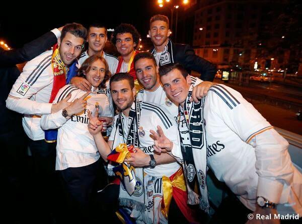 احتفالات ريال مدريد بالتتويج بلقب كأس الملك