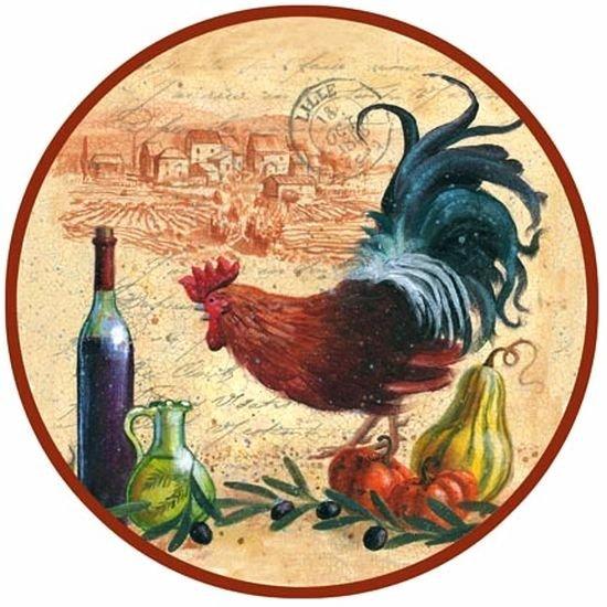 Картинки для декупажа петух и курица