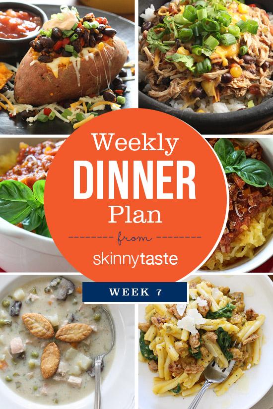 my weekly dinner plans since launching the skinnytaste meal planner