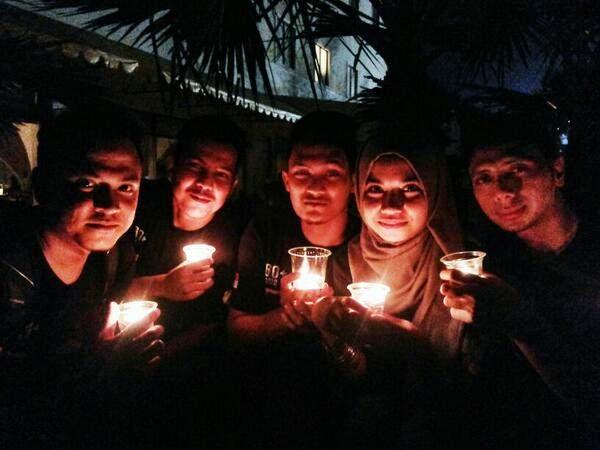 GALERI: Suasana Earth Hour di Berbagai Kota di Indonesia
