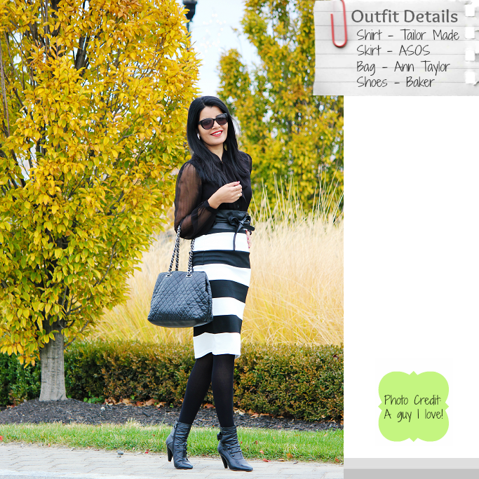 Striped Pencil Skirt, ASOS Pencil Skirt
