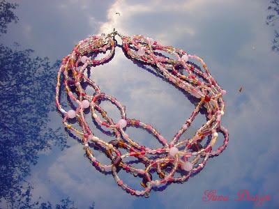 gunadesign bead Necklace Pink cloud