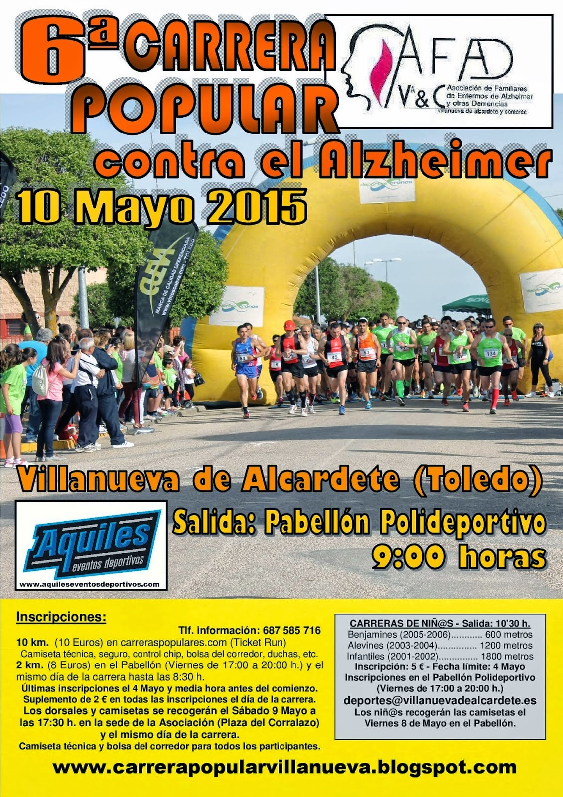 6ª Carrera Popular contra el Alzeheimer de Villanueva de Alcardete