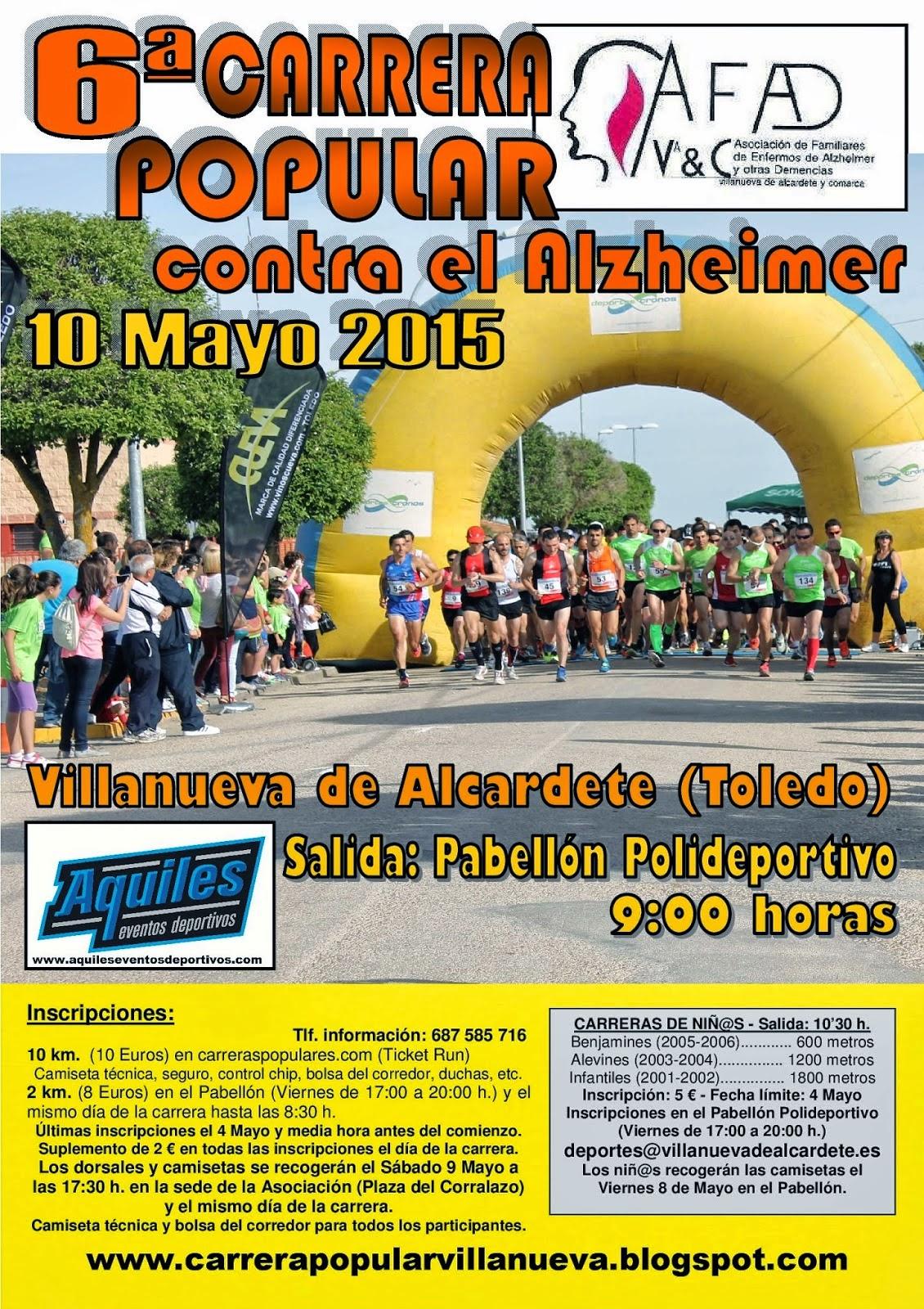 6ª Carrera Popular contra el Alzeheimer de Villanueva de Alcardete