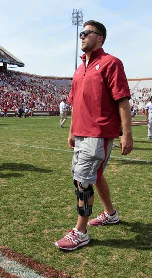 Oklahoma TE Blake Bell gives update on recovery from knee injury.