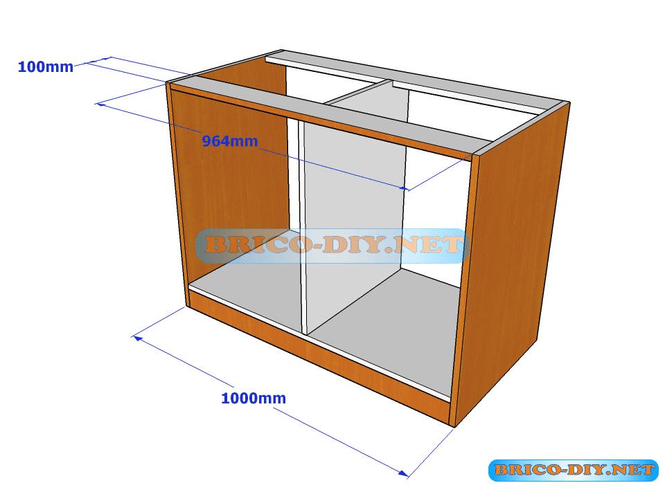 Plano y medidas de c mo hacer una comoda de melamina con for Programa para fabricar muebles de melamina gratis