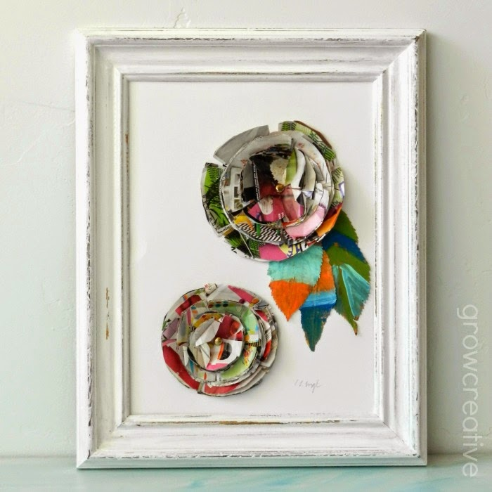 http://growcreative.blogspot.com/2014/06/junk-mail-flower-art-tutorial.html
