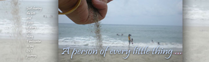 A person of every little thing...