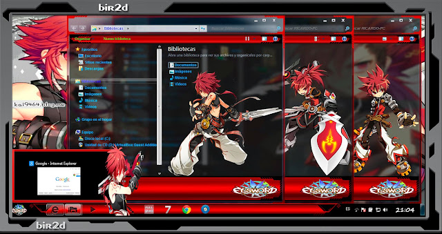 Elsword [ Theme Windows 7 ] 4