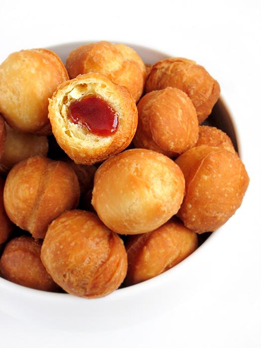 Mini jam doughnuts recipe tinascookings.blogspot.com