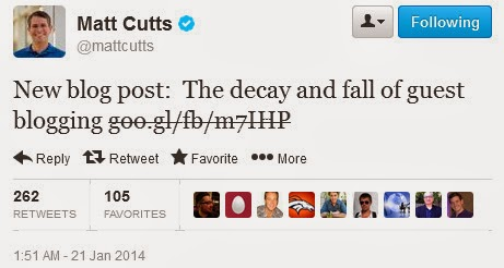 matt cutts guest blogging