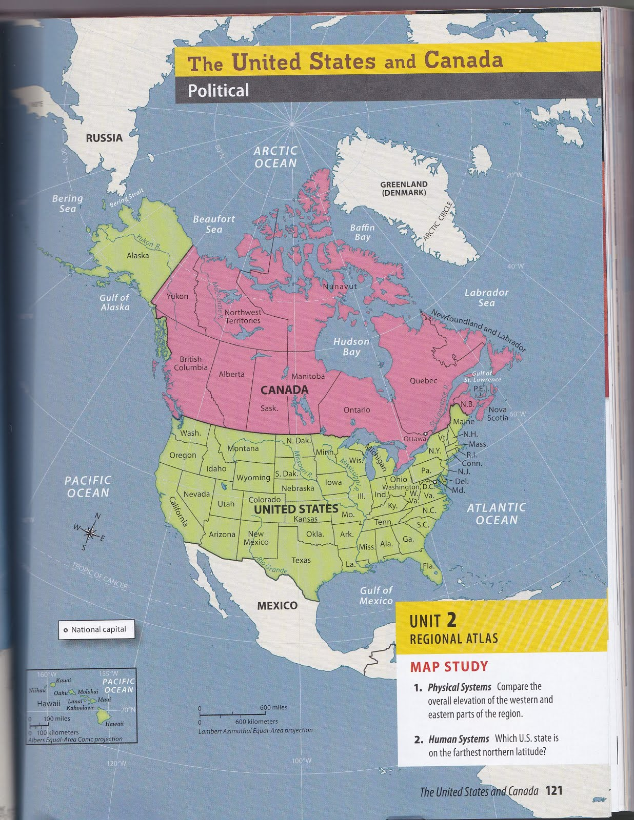 us canada sketch maps