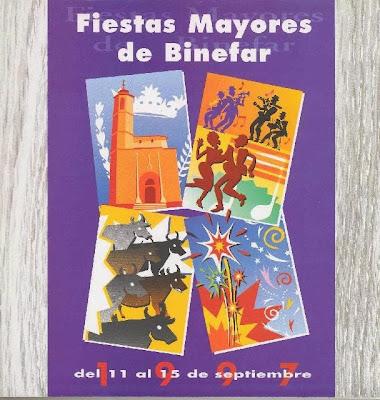 Carteles Fiestas de Binéfar y programas
