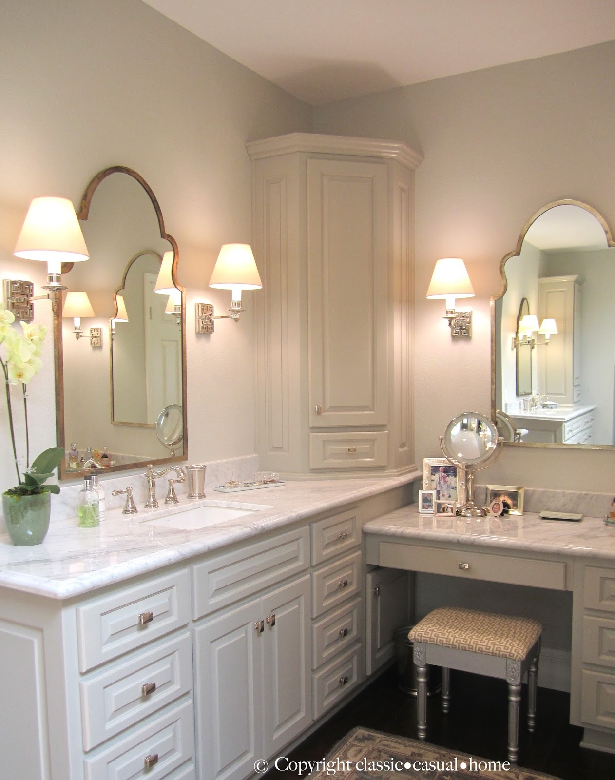 Master suite before and now classic casual home for Casual bathroom ideas