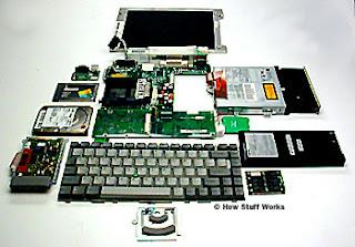 komponen dan bagian bagian dari laptop