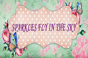 Sparkles Fly In The Sky Advertisement Banner
