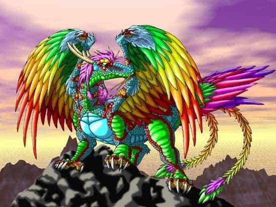 Rainbow Serpent - Silver Blue