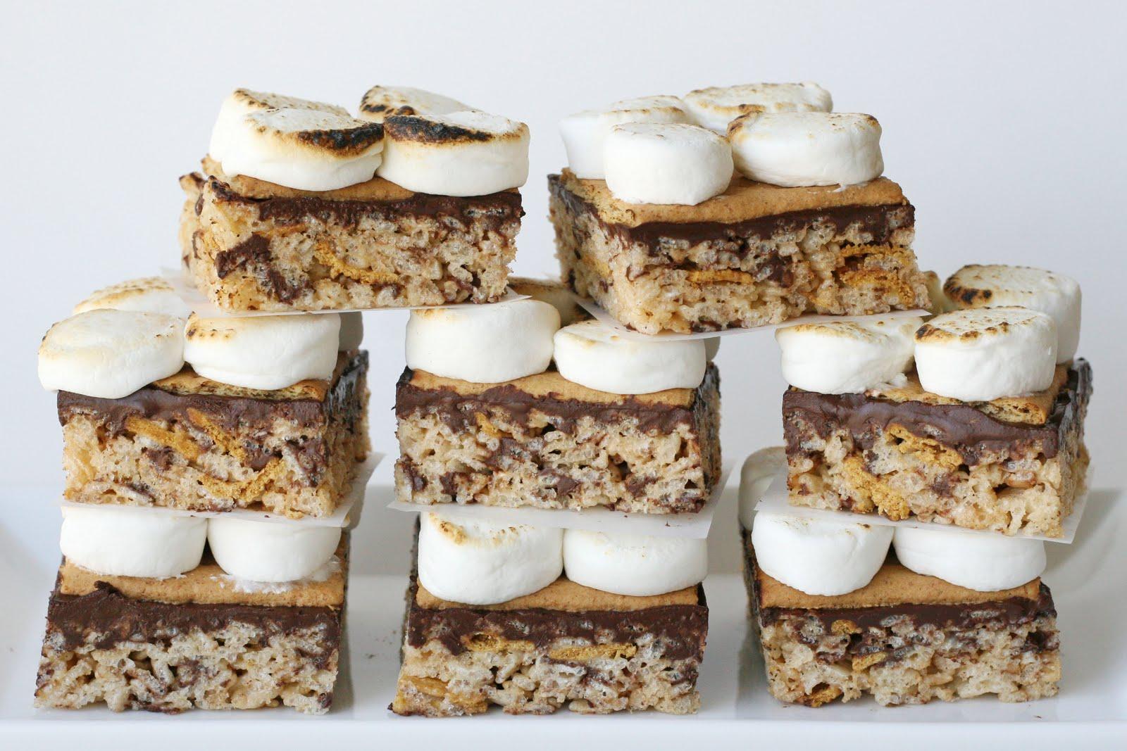 S'mores Rice Krispies Treats {Recipe} – Glorious Treats
