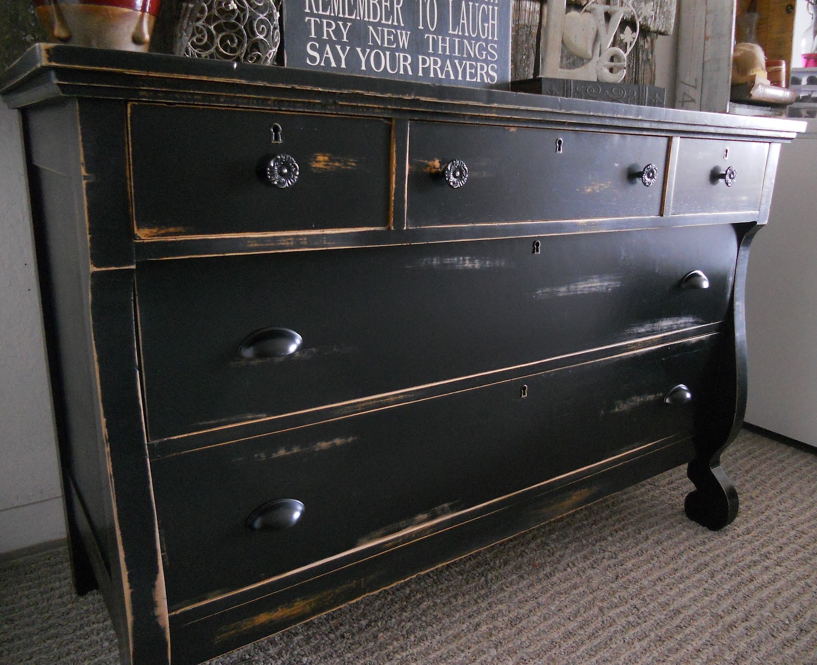 Black Antique Furniture createinspire}: antique empire dresser