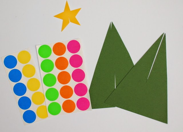 Paper Christmas Tree Packs include stickers, stars, and paper trees