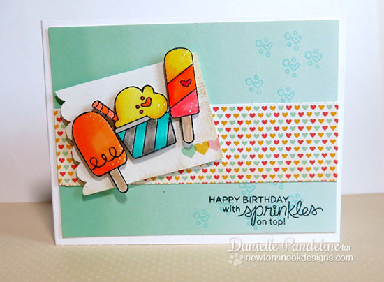 Ice Cream Birthday Card by Danielle Pandeline | Summer Scoops Stamp set by Newton's Nook Designs