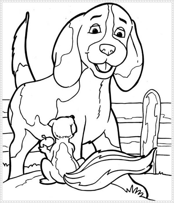 Ausmalbilder Zum Ausdrucken Ausmalbilder Hunde