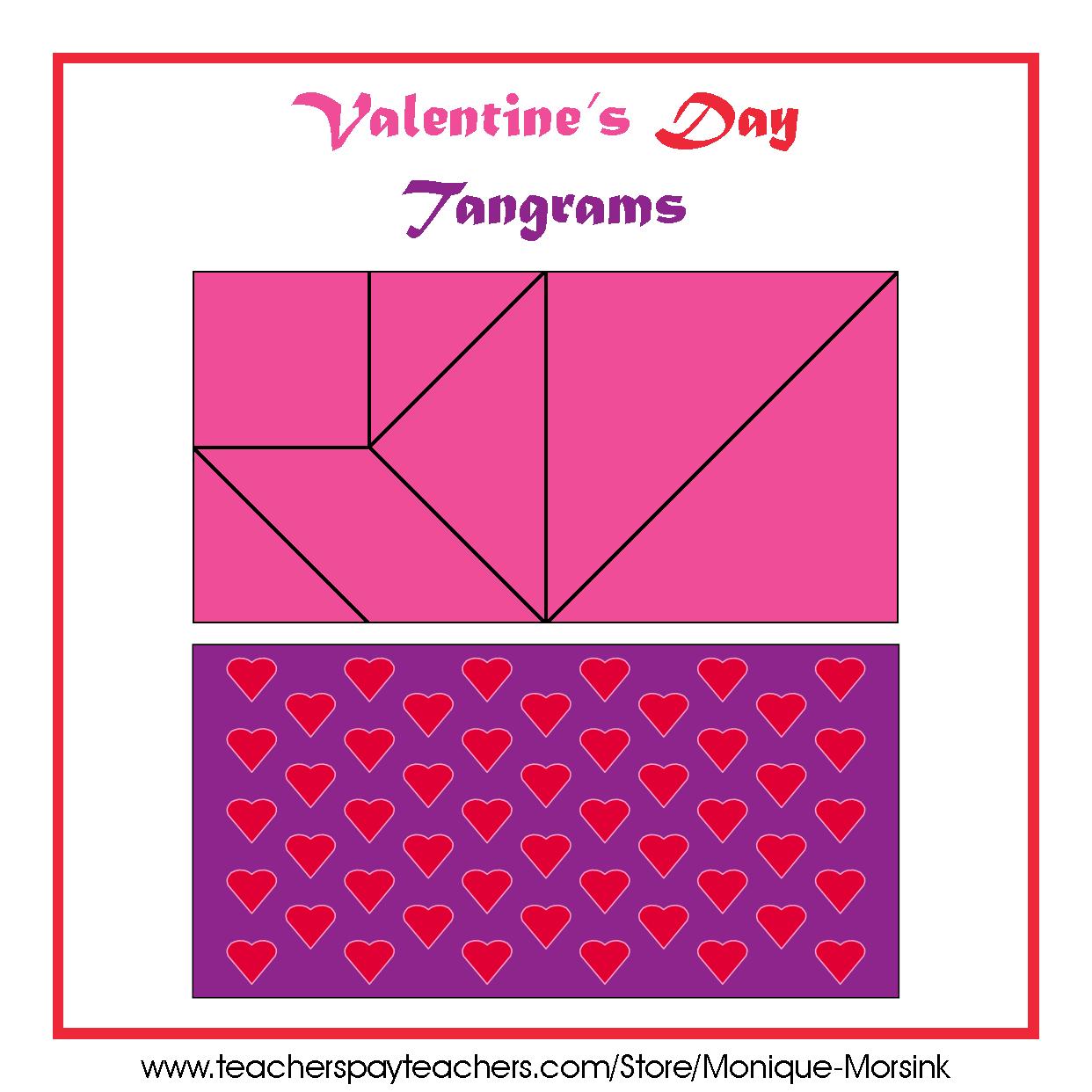 Uncategorized Tangram Worksheets colorful tangrams valentines day
