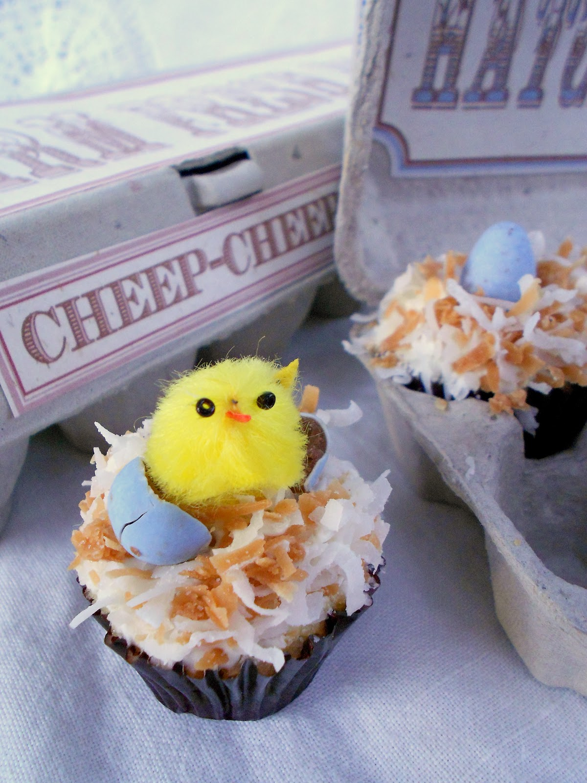 Hatched from Scratch: Mini Coconut Nest Cupcakes ~ Healthy ...