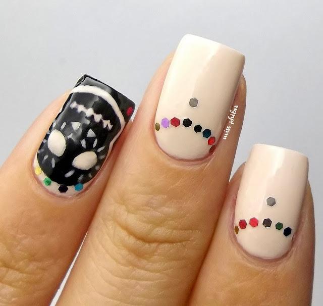 Día de los Muertos nail art