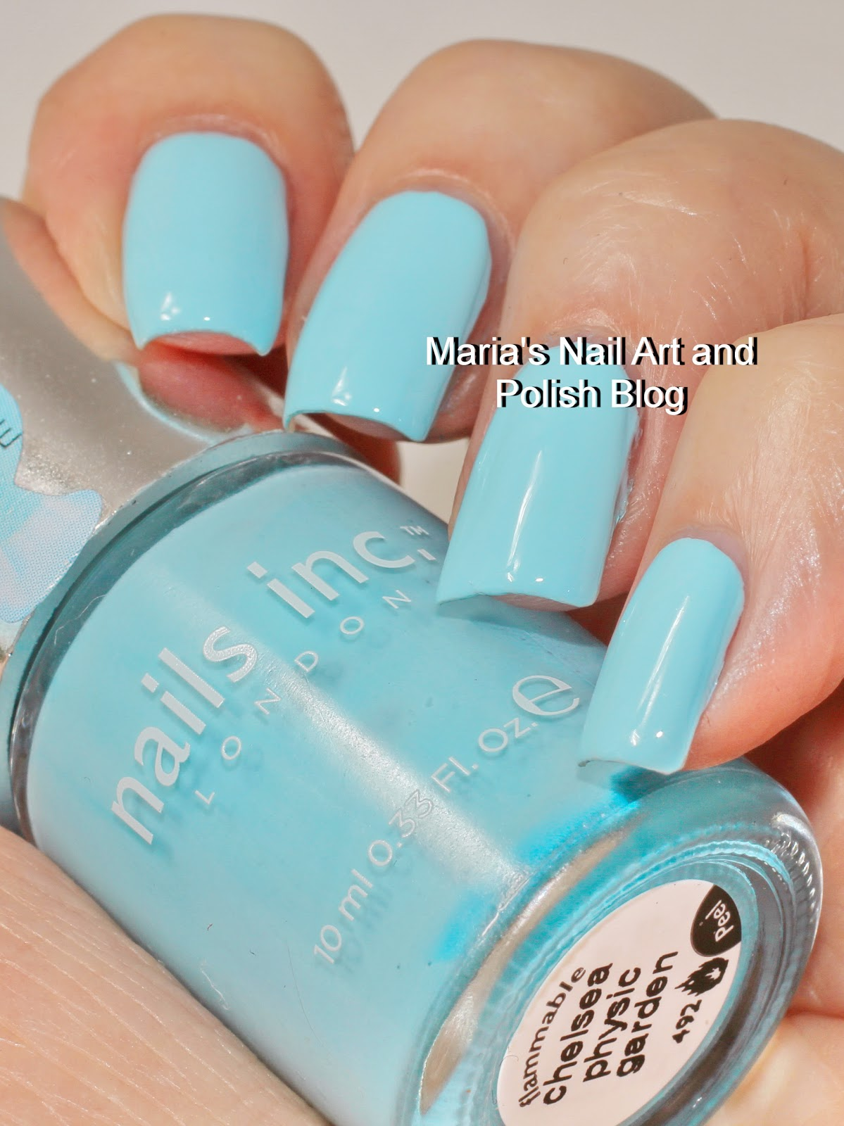 Marias nail art and polish blog nails inc chelsea physic garden nails inc chelsea physic garden springsummer 2013 is an adorable baby blue cream it is well pigmented and easy to work with and you see it in two easy prinsesfo Image collections