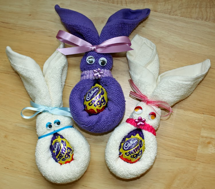 Craft and activities for all ages face cloth easter bunnies easy face cloth easter bunnies easy and fun negle