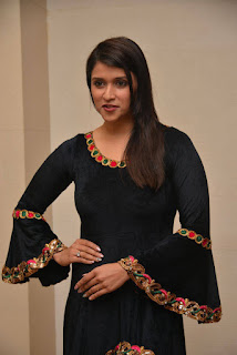 Mannara Chopra looks cute in a velvet Kurti at United Jewellery Exhibition