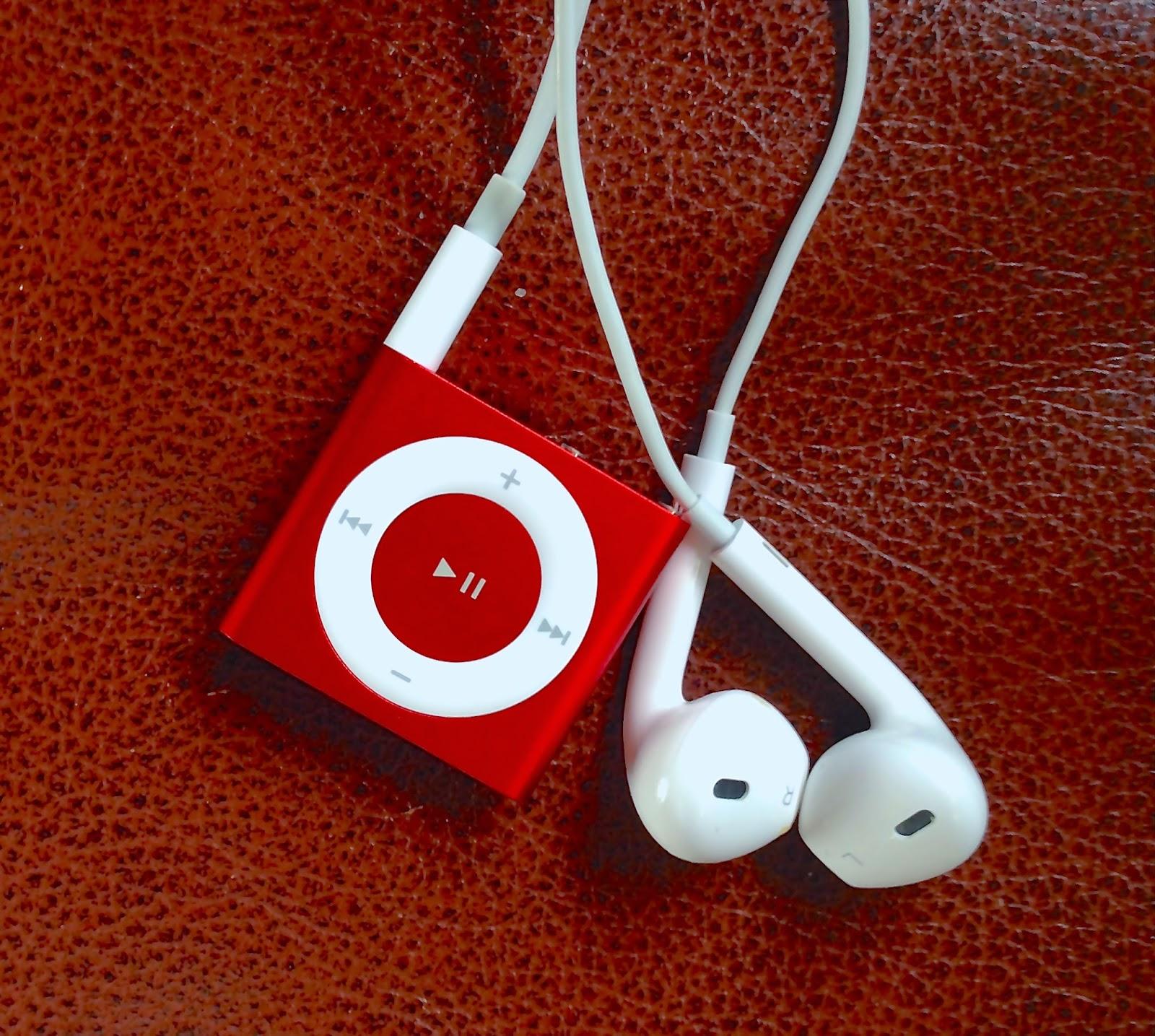 Red iPod Shuffle
