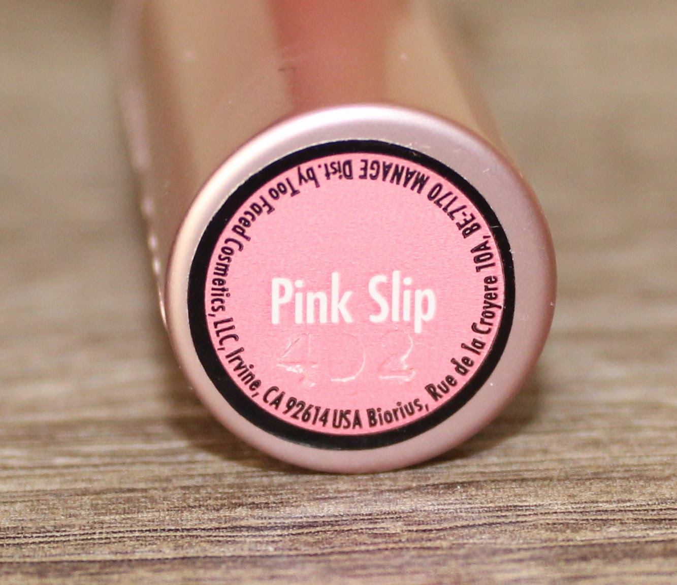 Too Faced La Crème Lip Balm in Pink Slip