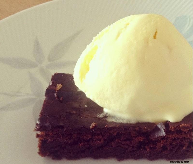 receta brownie casero
