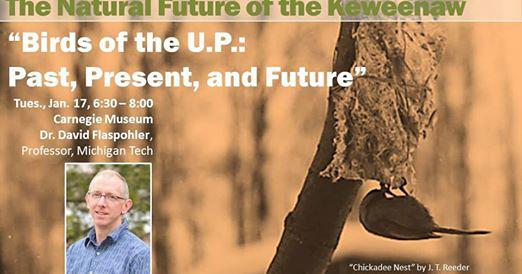 """Birds of the U.P.: Past, Present, and Future"" TONIGHT at Carnegie Museum"