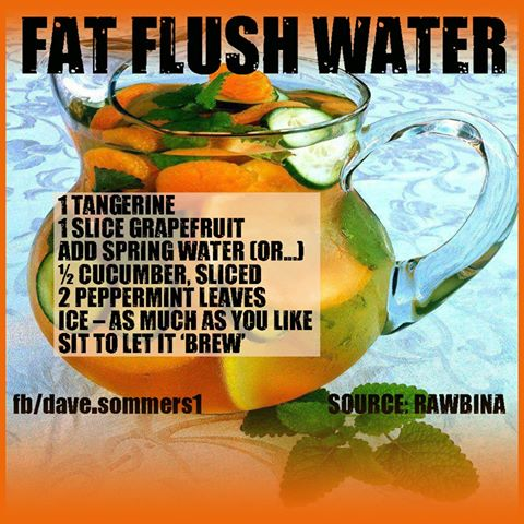 how to make fat flush water