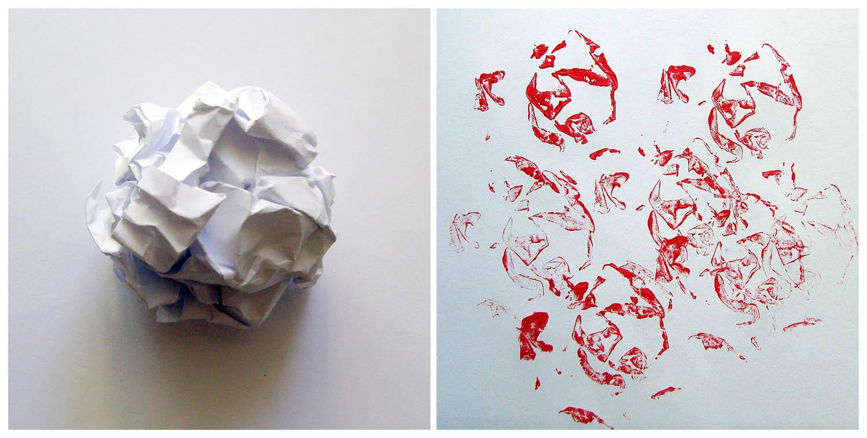 Как сделать штамповку на бумаге