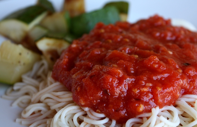 Five Minute Marinara Sauce recipe by Barefeet In The Kitchen