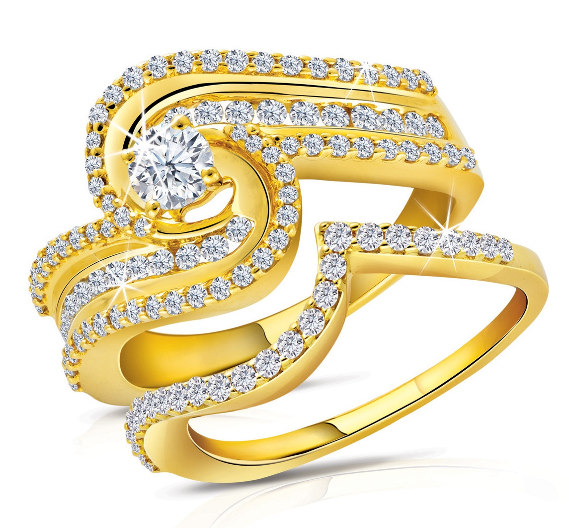 Latest world fashions engagement gold rings for Golden wedding rings