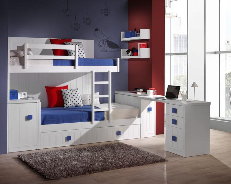 Dormitorios habitaciones juveniles e infantiles lacadas - Dormitorios infantiles literas ...