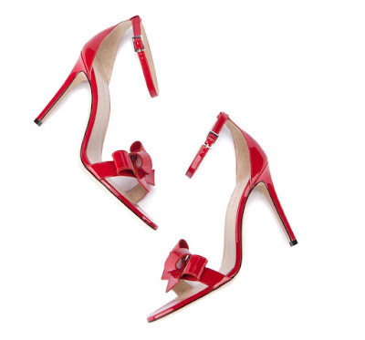 M.Gemi red barely there ankle strap stiletto sandals