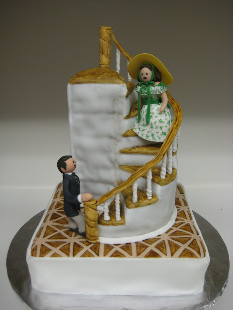 Gone With the Wind Staircase Cake with Rhett & Scarlett Figures 1